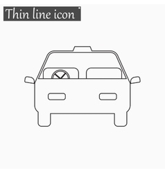 Car icon Style thin line vector image