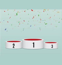 celebration background template with pedestal vector image