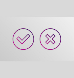check box icons vector image