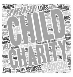 Child sponsorship do or dont text background vector