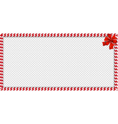 Christmas new year rectangle candy cane banner vector