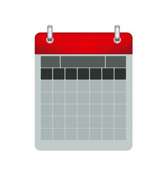 Color calendar with two rings vector