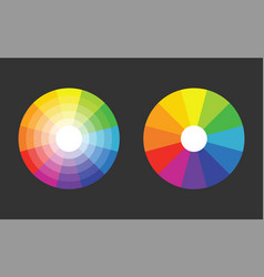 color wheel with 12 colors in gradiation vector image