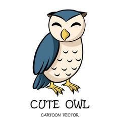 cute owl eps 10 vector image
