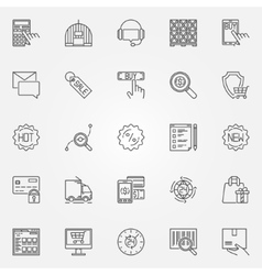 Ecommerce icons set vector