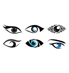 Eye vision colection logo vector