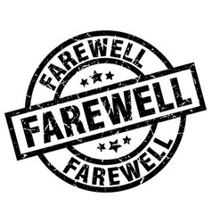 Farewell round grunge black stamp vector