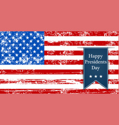 flag america to the presidents day leyba vector image