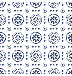 floral blue cirles abstract seamless vector image