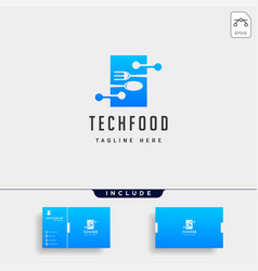 Food technology modern simple flat logo template vector
