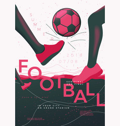 football poster template with legs and ball vector image