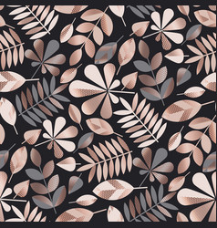 geometric elegant autumn leaves seamless pattern vector image