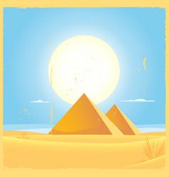 Giza pyramid square poster vector