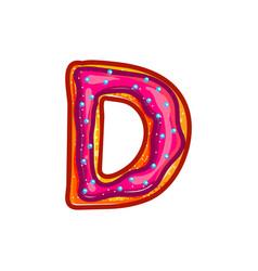 glazed cookie alphabet vector image