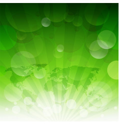 green sunburst eco background with gradient mesh vector image