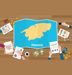 Havana cuba capital city region economy growth vector