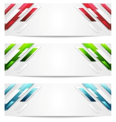 Hi-tech geometric abstract banners vector image