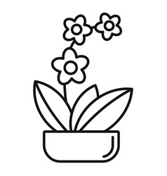 Houseplant orchid icon outline style vector