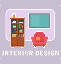 Interior design concept symbol vector