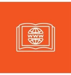 International education technology line icon vector image