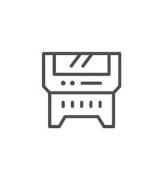 Laser machine line icon vector