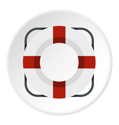 Lifeline icon circle vector