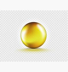 Liquid oil gold gel bubble isolated vector