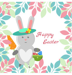Lovely childrens card for the feast of easter vector