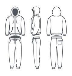 man hoodie tracksuit vector image