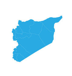 Map of syria high detailed map - syria vector