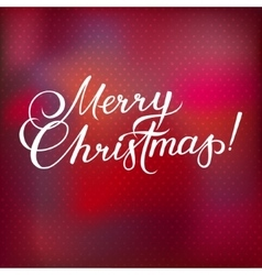 Merry Christmas Red Lettering Inscription vector