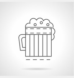 mug of ale flat line icon vector image