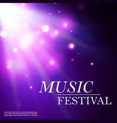 musical festival blue glow of bokeh particles vector image