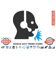 Operator Speech Flat Icon With 2017 Bonus Trend vector