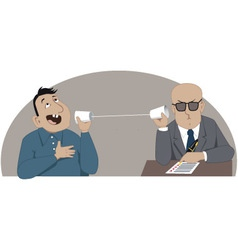 Phone job interview vector