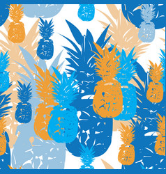 pineapple holiday-fruit delight seamless repeat vector image
