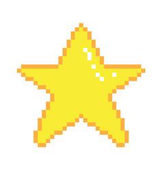 Pixel art star vector