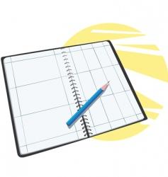 Planner calendar vector