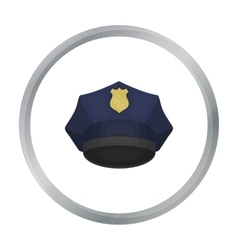 Police cap icon in cartoon style isolated on white vector