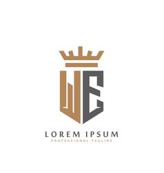 premium we monogram two letters we elegant vector image