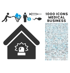 Realty alarm icon with 1000 medical business vector