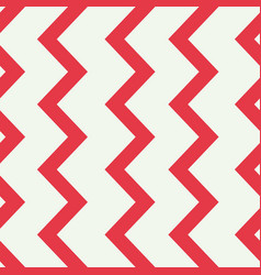 Red and white zigzag line seamless pattern vector
