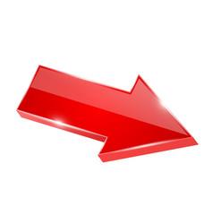 Red shiny arrow 3d vector