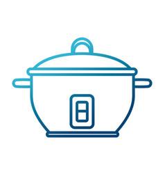 Rice cooker kitchen utensil vector