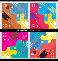 set abstract background with colorful vector image