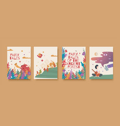 set for book fairy tales vector image