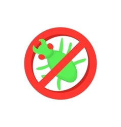 Sign of ban insects icon cartoon style vector image