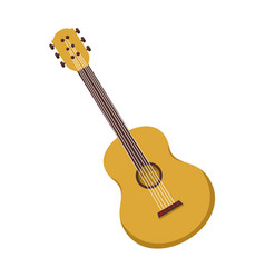 Simple acoustic guitar graphic vector