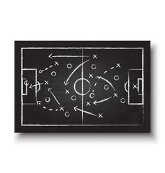 soccer cup formation and tactic vector image