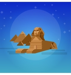 Sphinx background World landmark vector